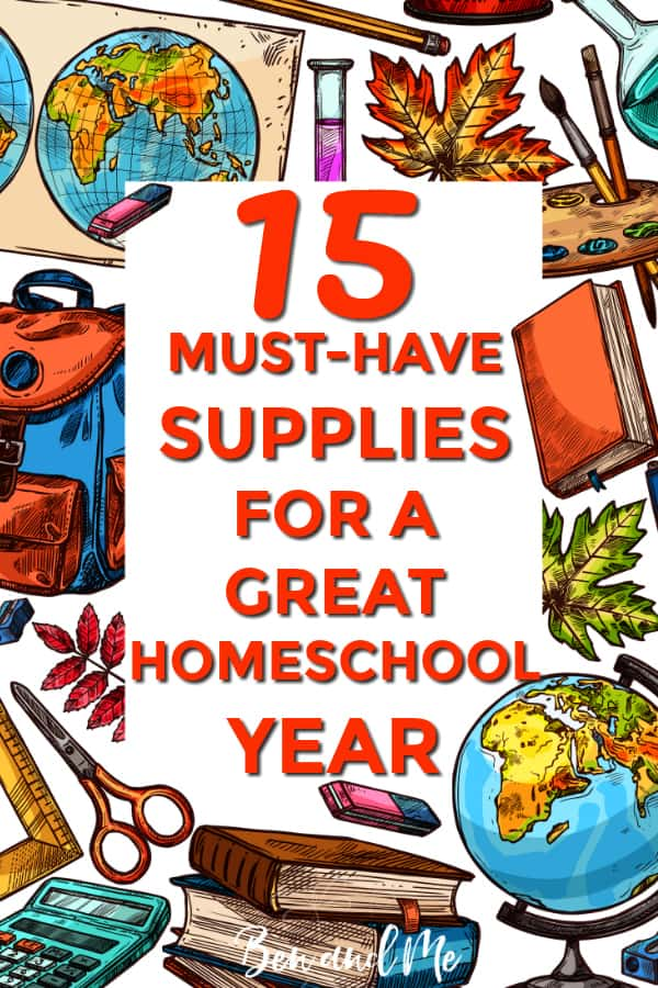 These must-have homeschool supplies will set you up for a successful and creative year! Includes ideas for homeschool geography, homeschool science, homeschool art, nature study, and more! #homeschool #homeschooling #homeschoolsupplies #homeschool