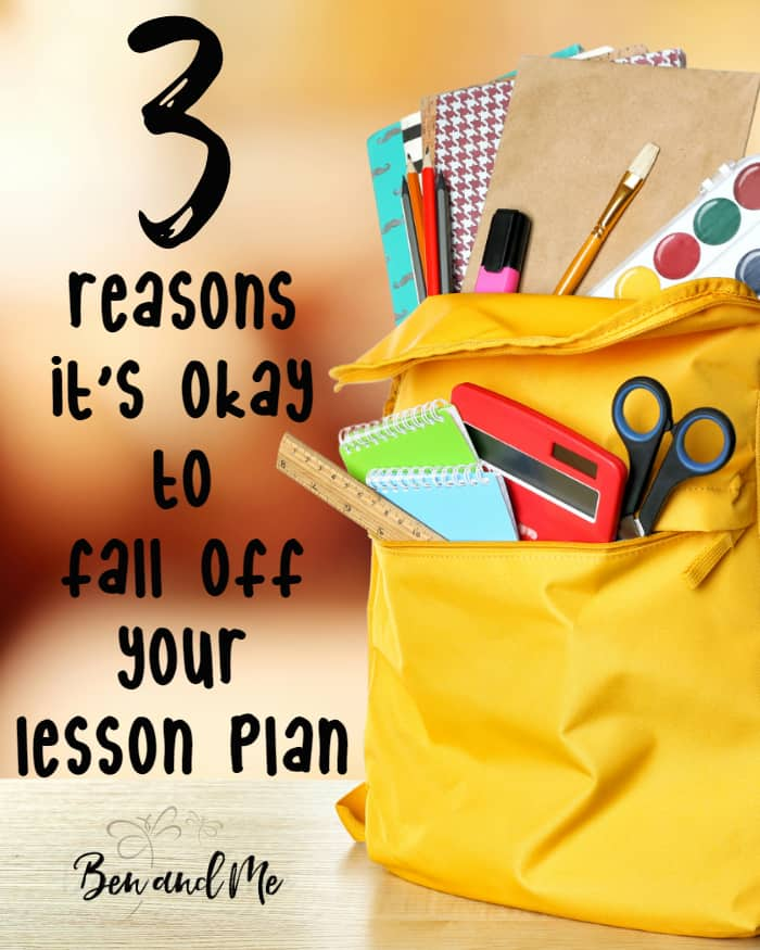 With delight-directed homeschooling, you'll quickly learn that lesson plans are over-rated. Here are 3 reasons it's okay to fall off your lesson plan.