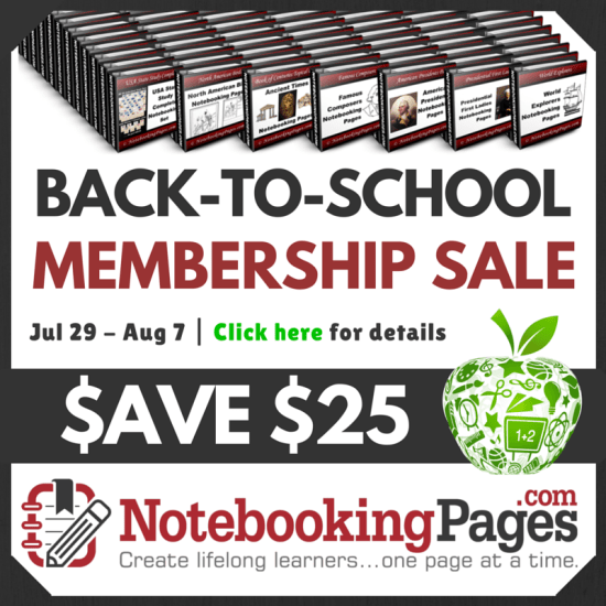 HUGE SALE: Save $25 on our favorite homeschool resource — NotebookingPages.com