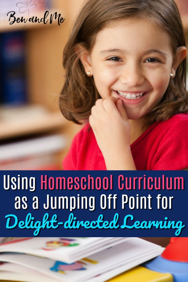 Using your homeschool curriculum as a jumping off point is a great way to facilitate delight-directed learning. #homeschool #homeschooling #hsmommas #homeschoolcurriculum #homeed #homeeducation #delightdirected