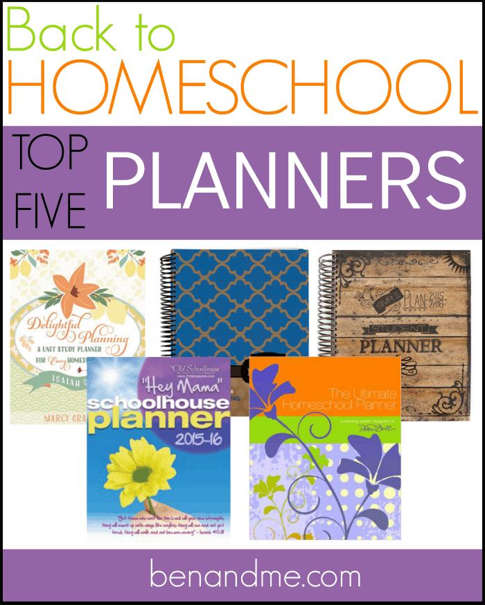 Top Five Homeschool Planners