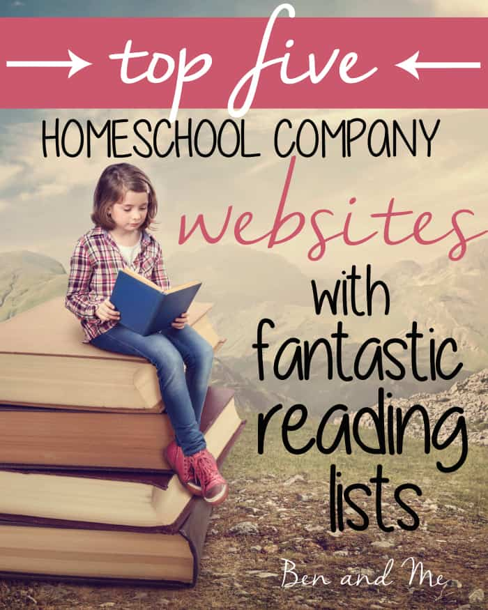 Top 5 Homeschool Company websites with fantastic reading lists
