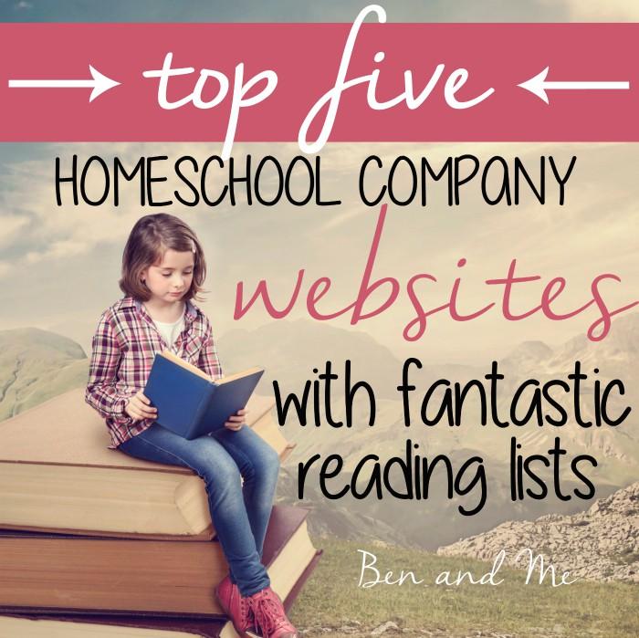 Top Five Homeschool Company Websites with Fantastic Reading Lists