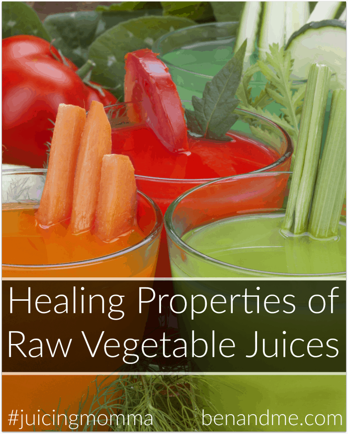 Healing Properties of Raw Vegetable Juices