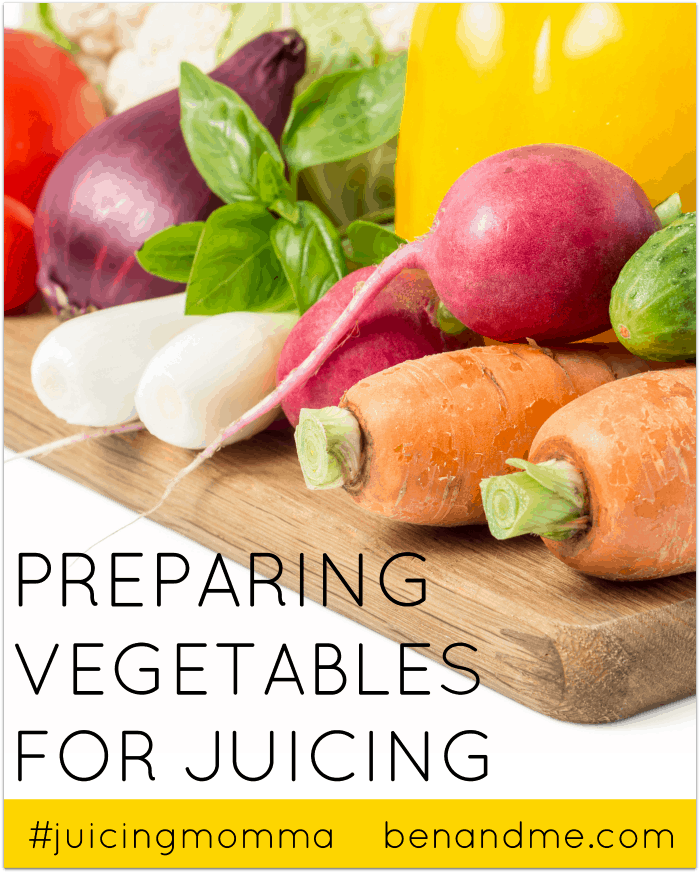 Preparing Vegetables for Juicing