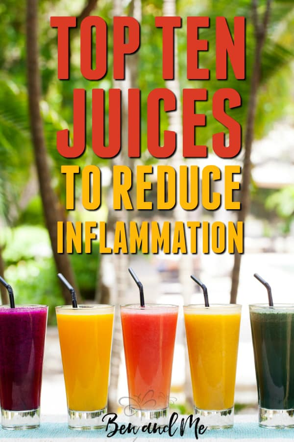 If you are suffering with any inflammatory diseases, give juicing a try, beginning with these top ten juices to reduce inflammation. #juicing #juicingmomma #juices #howtoreduceinflammation #inflammation #autoimmune #juicingrecipes #juicingbenefits #fatsickandnearlydead