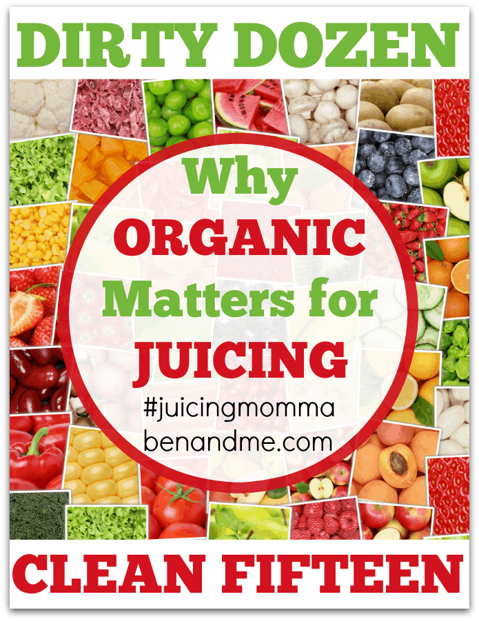 Why Organic Matters for Juicing: The Dirty Dozen and Clean Fifteen + Sweet Potato Punch Juice Recipe