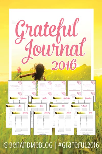 Grateful Journal 2016 Free download with monthly journal pages and Scripture memory cards