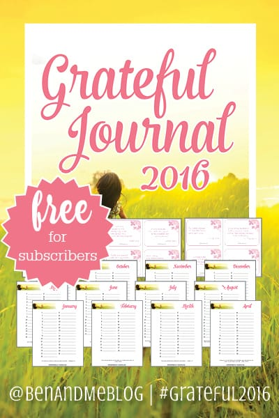Grateful Journal 2016 free for subscribers
