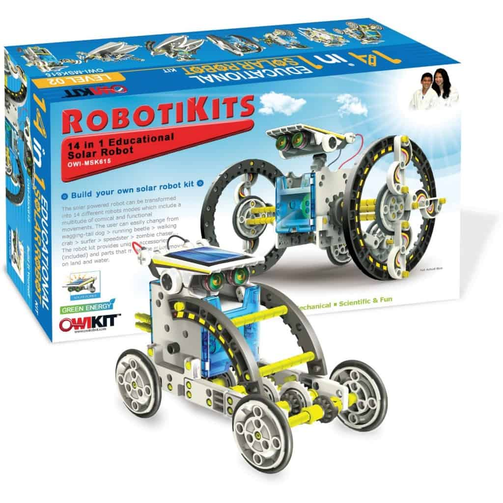 Best Science Gifts for Teen Boys: 14 in 1 Robots Kit