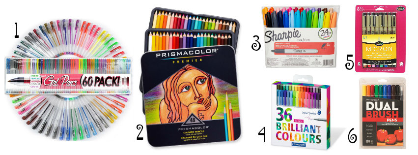 Colored Pens and Pencils for Doodling, Journaling, Creative Lettering, and Coloring