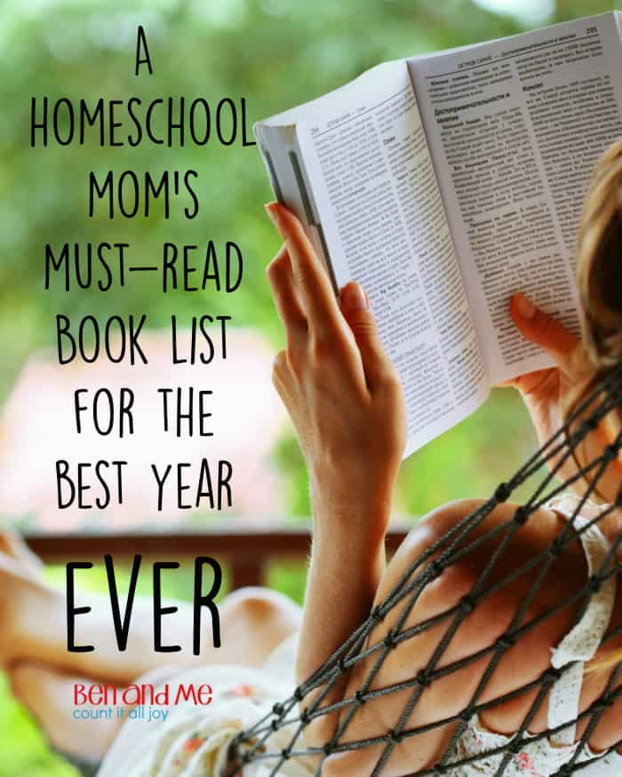 A Homeschool Mom's Must-Read Book List for the Best Year Ever