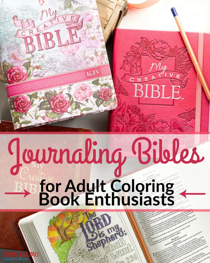 Journaling Bibles for Adult Coloring Book Enthusiasts
