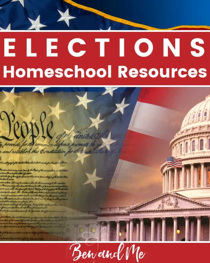 A comprehensive list of elections resources to teach your children and homeschool students about the process of electing a President.