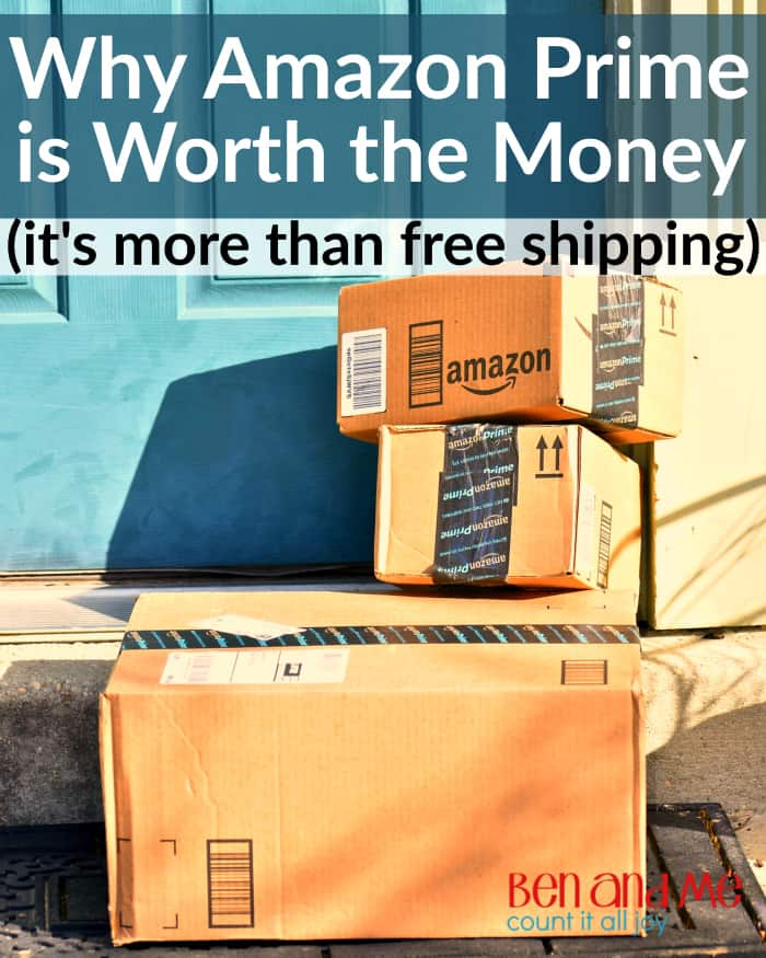 Why Amazon Prime is Worth the Money - It's more than free shipping, Thre are many benefits for the entire family with Amazon Prime. From music and books, to pantry items, and more. Amazon Prime is worth the money! #amazonprime #amazon #frugalliving #moneysavingideas #freeshipping