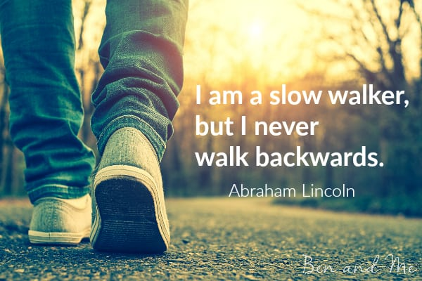 Abraham Lincoln quote for creative freewriting