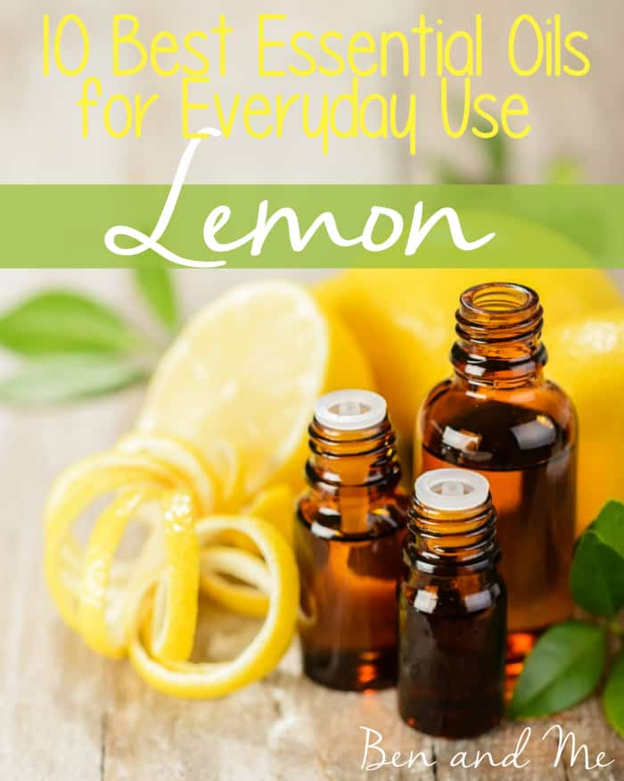 Best Essential Oils for Everyday Use-- Lemon Essential Oil -- Containing both health-giving properties as well as making cleaning nearly everything in your home more healthful, lemon essential oil is a must-have for every essential oil user and definitely deserves a place at the top of my list of best essential oils for everyday use.