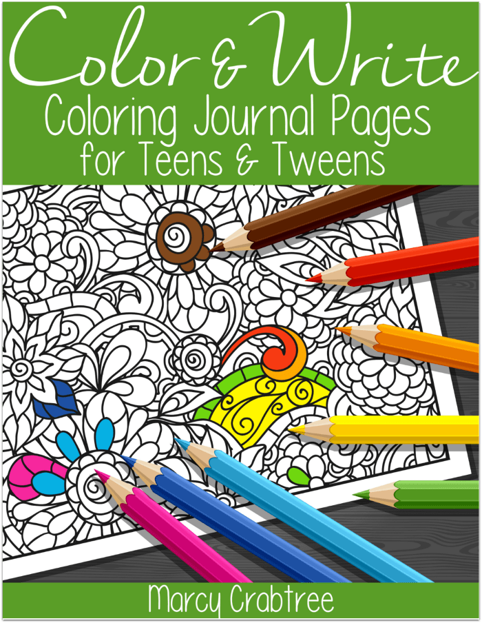 Free Download Of 10 Color Write Coloring Journal Pages For Teens Tweens Use