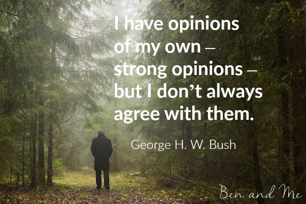George H.W. Bush quote for creative freewriting