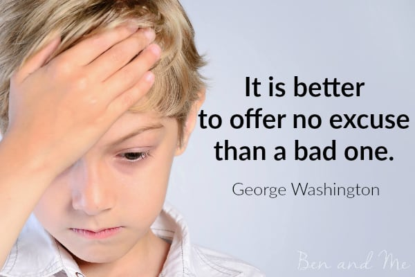 George Washington quote for freewriting