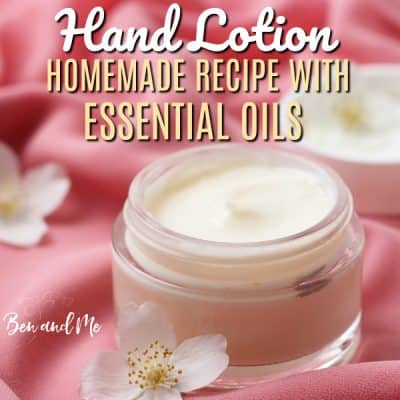 Homemade Nourishing Hand Lotion with Essential Oils