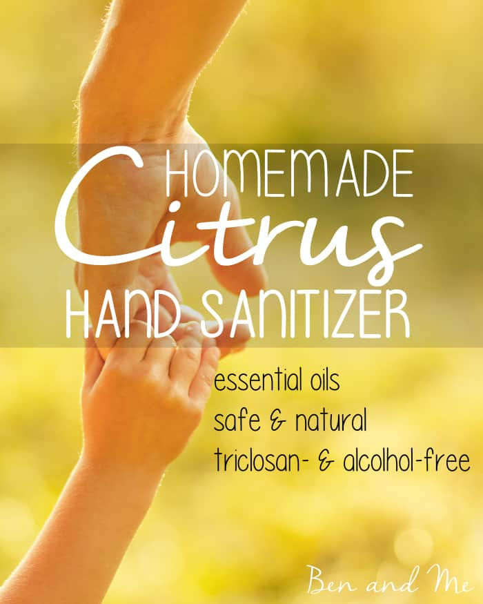Homemade Hand Sanitizer -- Lemon essential oil may be the most powerful anti-microbial agent of all the essential oils, which is why I include it in my homemade hand sanitizer.