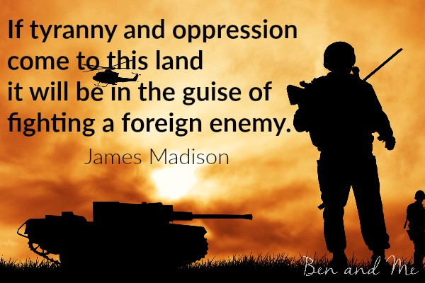 James Madison quote for creative freewriting