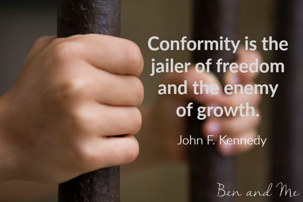 John Kennedy quote for creative freewriting
