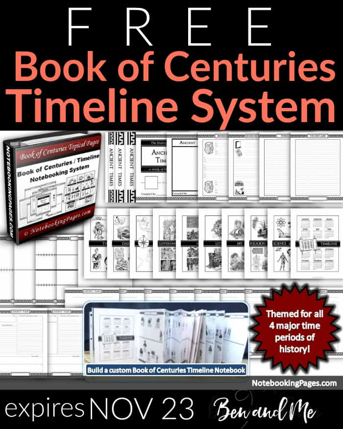 Free! History Times/Book of Centuries System -- offer expires Nov. 23, plus a LIFETIME MEMBERSHIP giveaway for 3 winners!