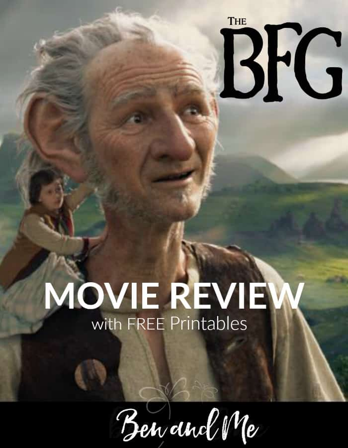 The BFG Movie Review with Free Printables