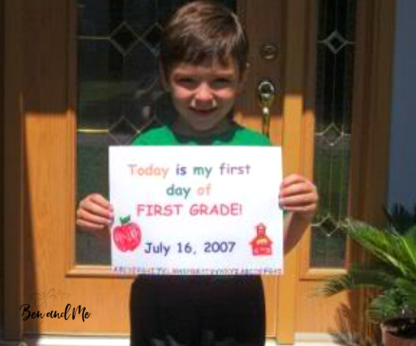 first day of first grade