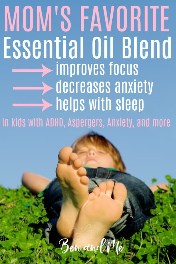 Looking for essential oils for beginners? Well, if you're a mom, look no further than this favorite of moms everywhere. It's the only blend you'll need to help your child calm down, focus, and sleep. #essentialoils #aromatherapy #ADHD #aspergers #autism #tourettes #anxiety #wellness