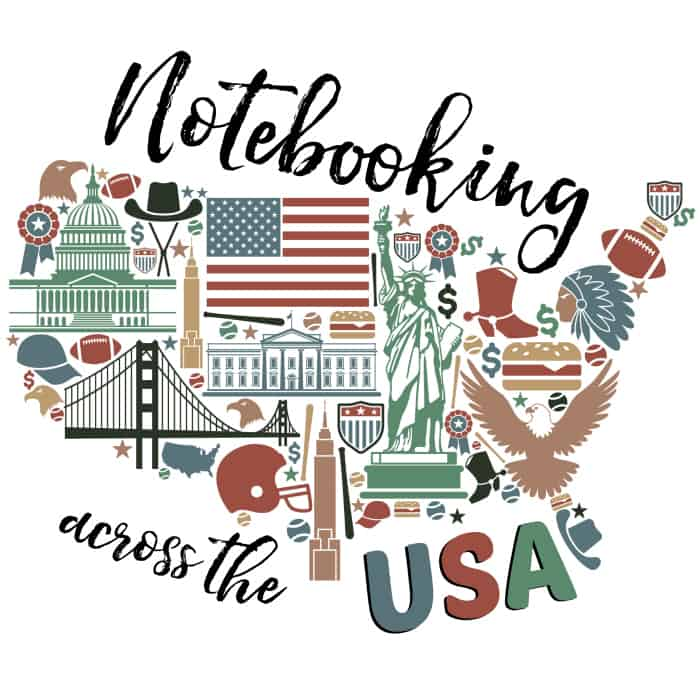Notebooking Across the USA logo