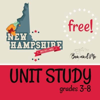 Free! New Hampshire Unit Study