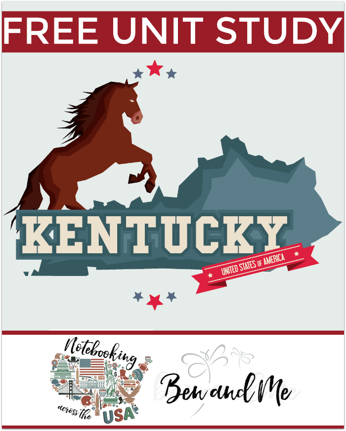 "FREE Kentucky Unit Study for grades 3-8 -- learn about the ""Bluegrass State"" in this 15th installment of Notebooking Across the USA."