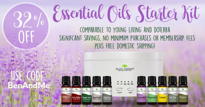 Get 32% off this Essential Oils Starter Kit (comparable to Young Living and doTerra) using the code: BenAndMe