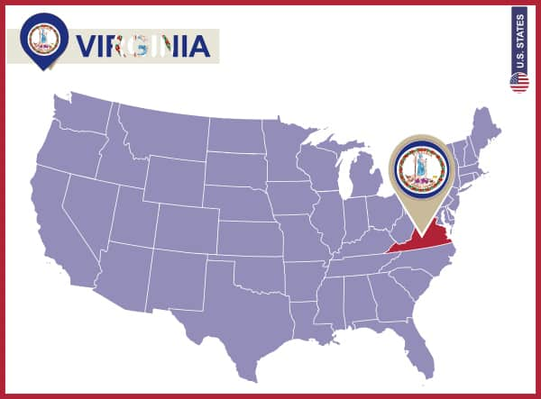 Notebooking Across The USA Virginia Unit Study Ben And Me - Map of us virginia
