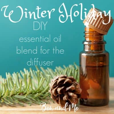 Winter Holiday DIY Essential Oil Blend for the Diffuser