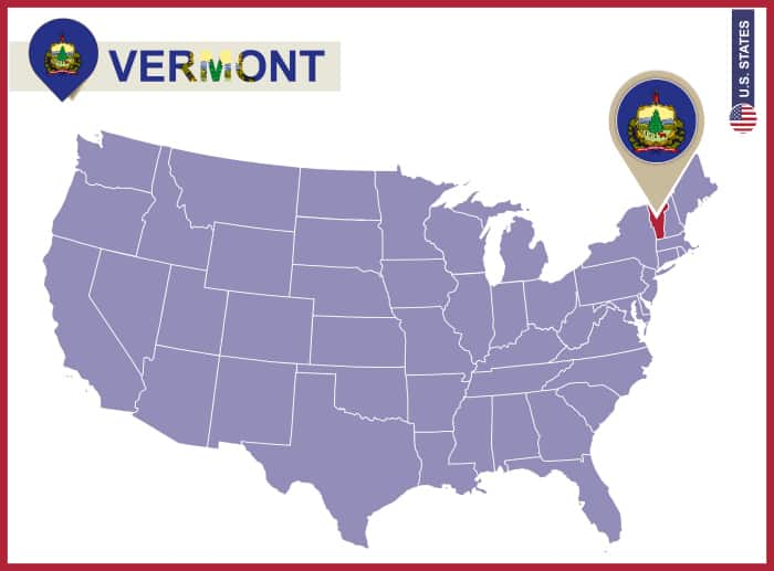 Notebooking Across The USA Vermont Unit Study Ben And Me - Vermont in us map