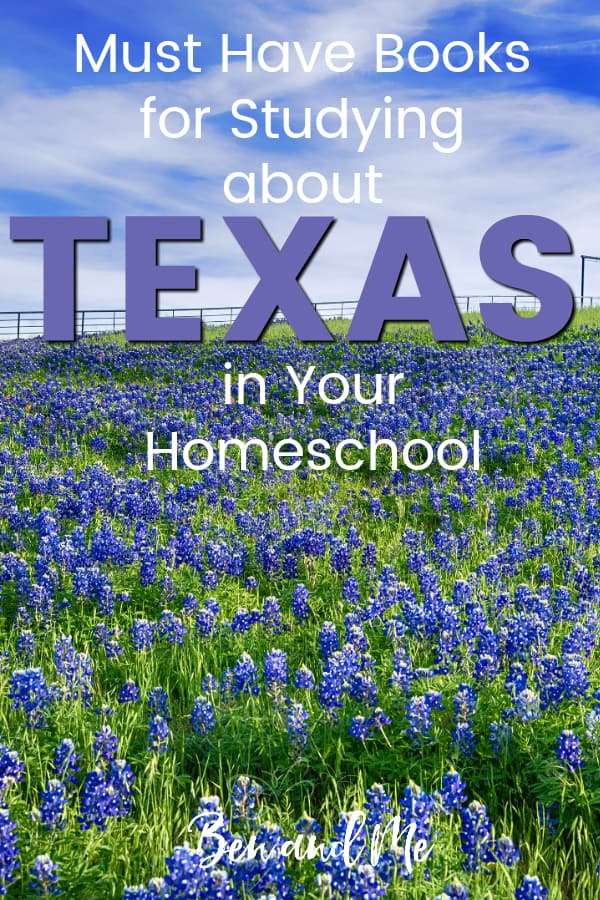 Texas Book Basket -- must read books for visiting or studying The Lone Star State! Includes other ideas and resources for a Texas unit study! #homeschool #traveltheUSA #texasunitstudy #unitstudies #homeschoolgeography