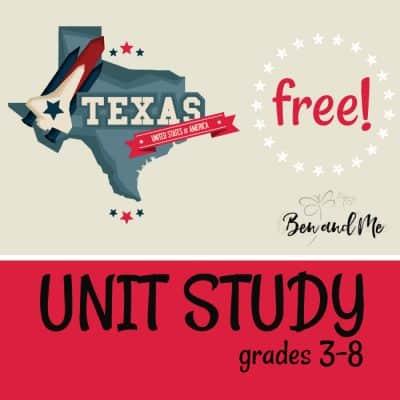Free! Texas Unit Study