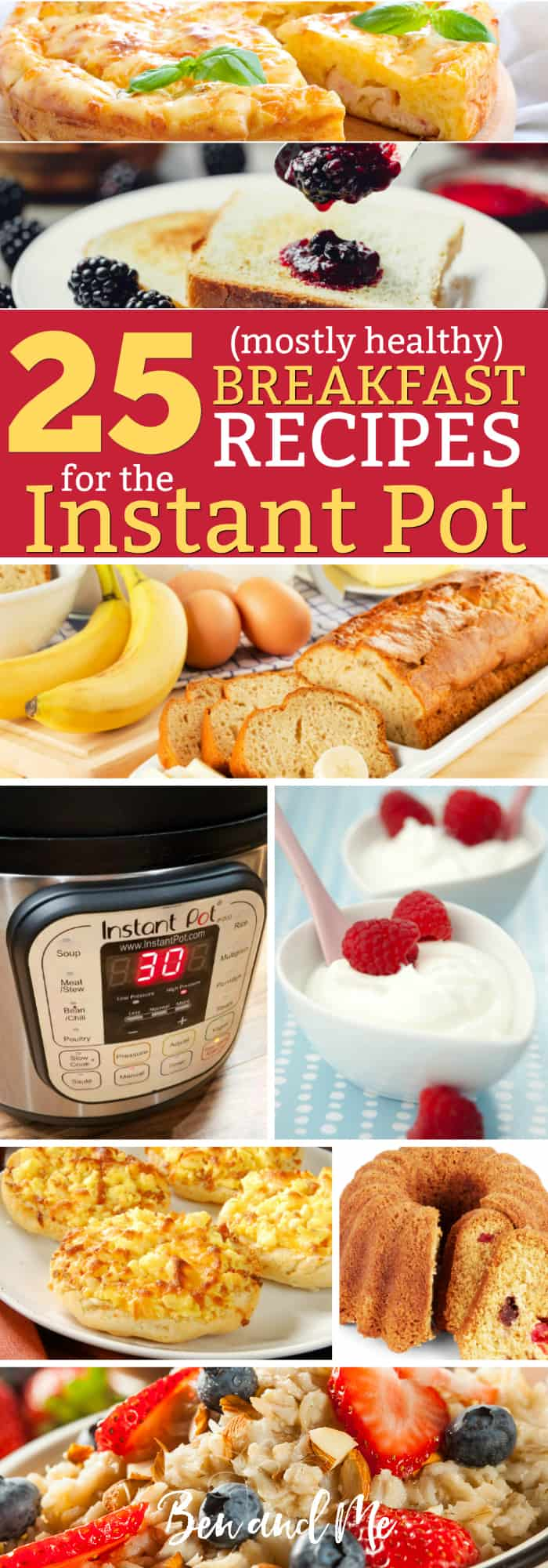 Make your busy mom life easier with these 25 (mostly healthy) breakfast recipes for the Instant Pot! What's your favorite breakfast recipe?