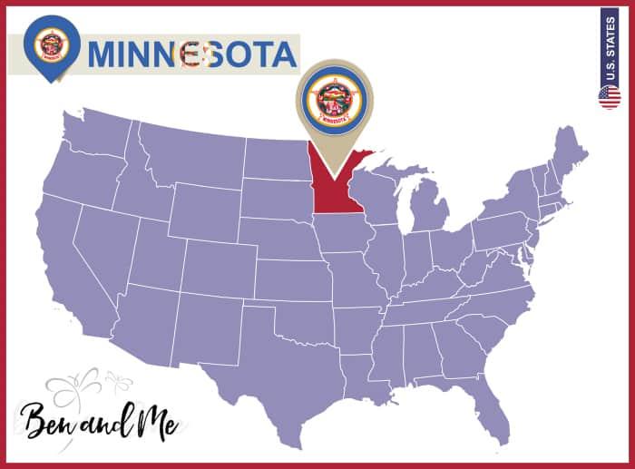 Notebooking Across The USA Minnesota Unit Study Ben And Me - Us map minnesota