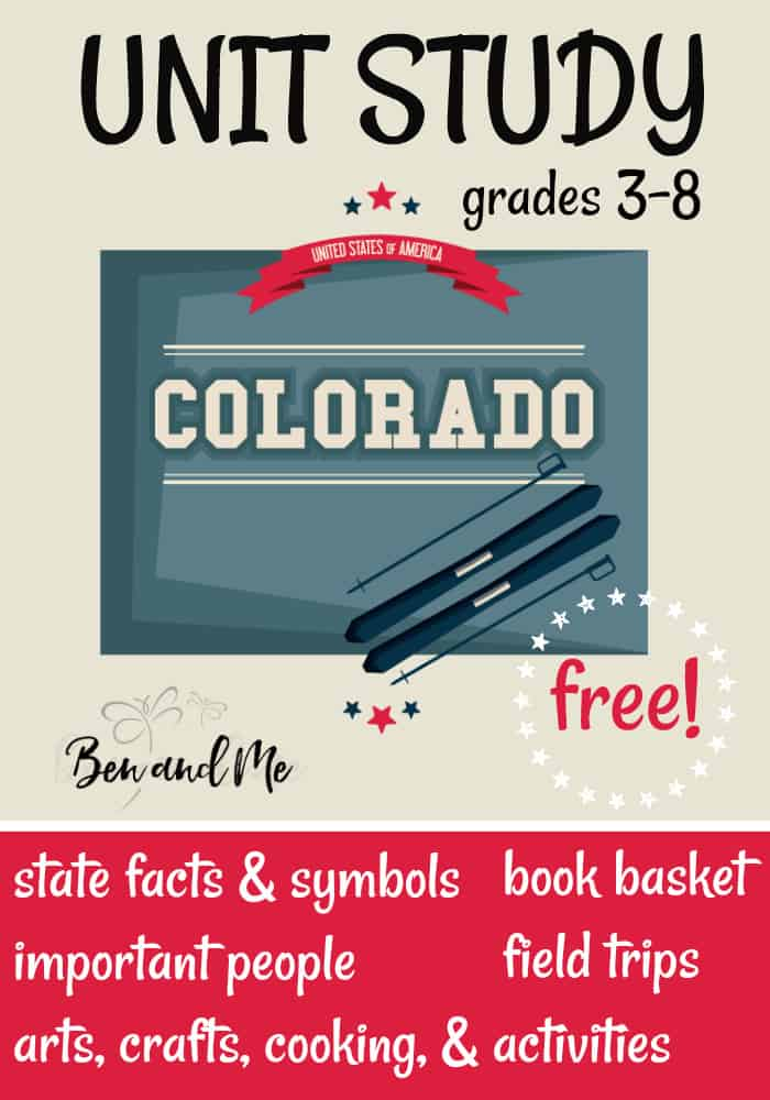 FREE Colorado Unit Study for grades 3-8 -- learn about the