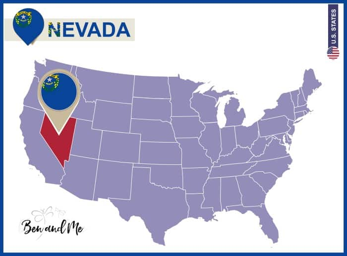 Notebooking Across The USA Nevada Unit Study Ben And Me - Us map nevada