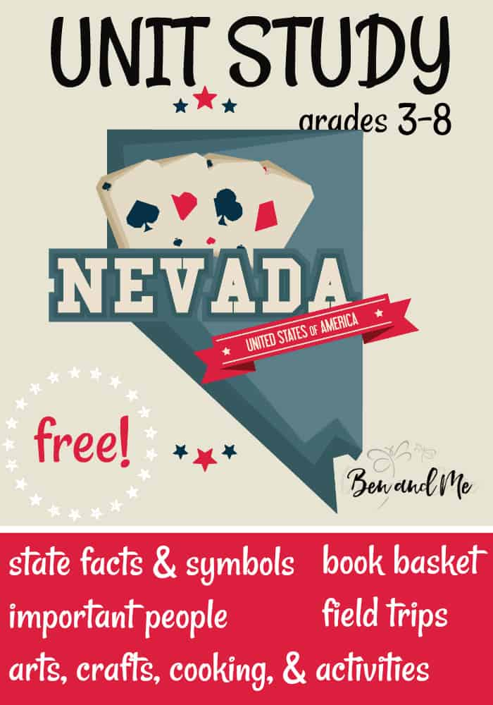 FREE Nevada Unit Study for grades 3-8 -- learn about the