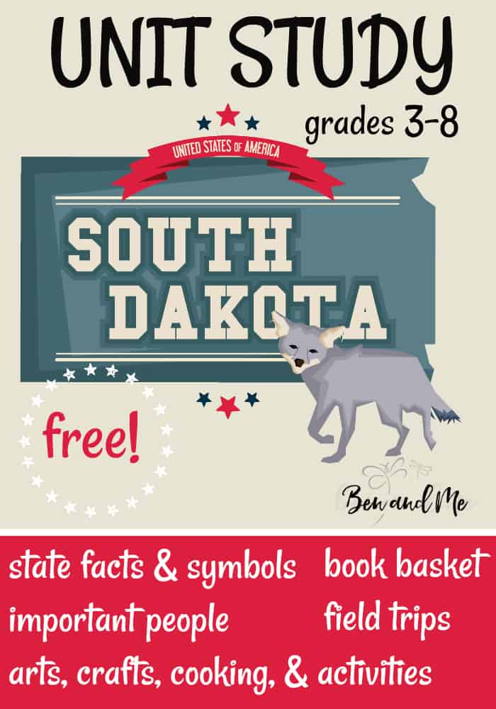 FREE South Dakota Unit Study for grades 3-8 -- learn about the