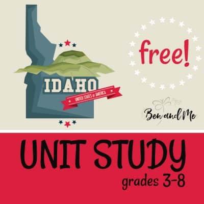 Free! Idaho Unit Study