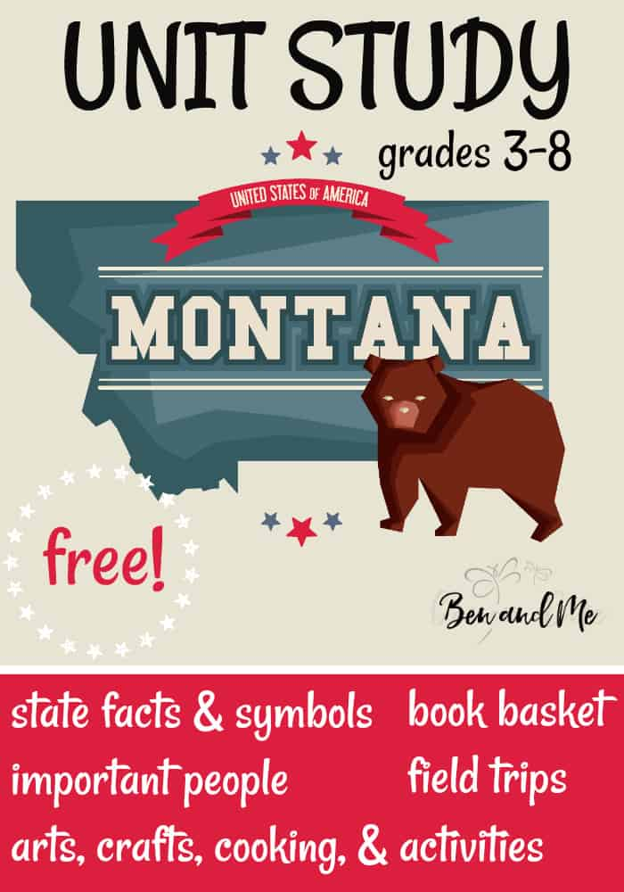 FREE Montana Unit Study for grades 3-8 -- learn about the