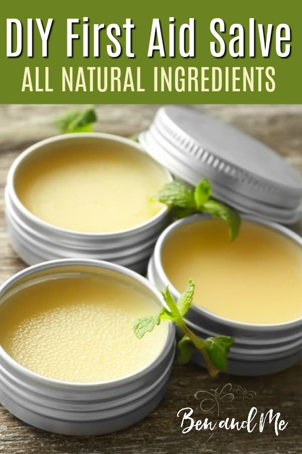 This gentle, all natural salve can be used for many purposes, including insect stings or bites, cuts and scrapes, itchy or chapped skin, minor burns, and sunburns. #firstaid #aromatherapy #essentialoils #growingnatural #DIYfirstaid #naturalhealth #naturalhealing #naturalfamily